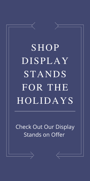 shop display stands for holidays